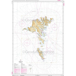 Deense zeekaart 81 Faroer