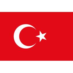 Vlag Turkije, meerdere maten