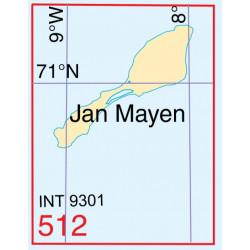 Noorse zeekaart 512 Jan Meyen