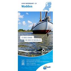 ANWB Waterkaart 20 Wadden